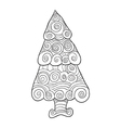 Christmas tree art style with Christmas Hand drawn vector image vector image