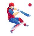 cricket player icon cartoon style vector image
