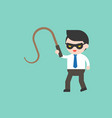 cute businessman or manager with mask and whip vector image