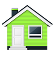 Cute scandinavian cottage - country house vector image vector image