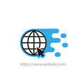 earth globe icon creative logotype website on a vector image vector image