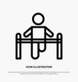 exercise gym gymnastic health man line icon vector image