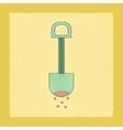 flat shading style icon Kids shovel sand vector image