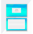 flyer template business card for managing vector image vector image