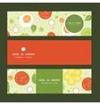 fresh salad horizontal banners set pattern vector image vector image