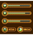 Game steampunk energy time progress bar icons set vector image