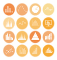Graph and diagram for business icons vector image