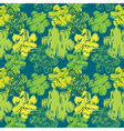 grunge flower green seamless 380 vector image vector image