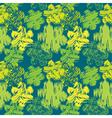 grunge flower green seamless 380 vector image vector image