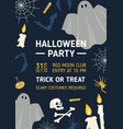 halloween party invitation flyer or poster vector image vector image