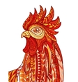 Hand drawn doodle outline rooster vector image vector image