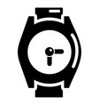 hand watch icon simple style vector image vector image