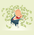 happy businessmen jumping vector image vector image