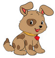 happy puppy with a leash eps 10 vector image vector image