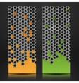 Hexagon Metal Banner vector image vector image