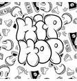 hip hop music party in graffiti style vector image vector image