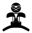 Hipster man Suit Bow tie vector image vector image