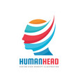 human head - concept business logo template vector image