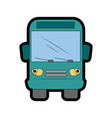 isolated bus truck vector image vector image