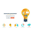 Knowledge management website template vector image vector image