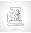Lab beaker flat line design icon vector image vector image