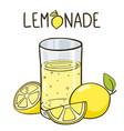 lemonade glass lemonade logo vector image vector image
