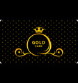 luxury card a golden carriage with a crown on a vector image