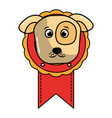 medal award with dog head prize vector image vector image