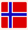 norway square flag button social media vector image