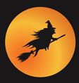 orange gradient silhouette halloween holiday vector image