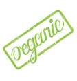 Organic stamp with hand drawn lettering isolated vector image