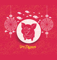 oriental chinese new year background year of the vector image vector image