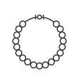 pearl or beads necklace outline icon