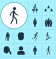 person icons set collection of ladder grandpa vector image vector image