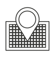 pin location isolated icon design vector image vector image
