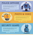 police drone robot vector image