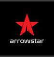 red arrow star sport adventure outdoor t shirt vector image vector image