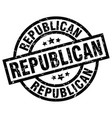 republican round grunge black stamp vector image vector image