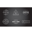 Set of Coffee Logotype Templates and Coffee vector image vector image