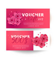 set of colorful gift vouchers with flowers vector image