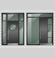 set of modern entrance doors vector image vector image