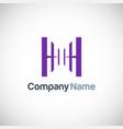 shape letter h logo vector image vector image