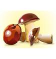shiny mushrooms vector image vector image