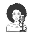 singer woman microphone vector image