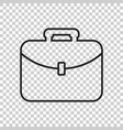 suitcase icon luggage in line style vector image vector image