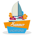 summer vacations vector image vector image
