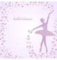 Tender ballerina with flowers vector image vector image