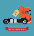 Tractor Unit Icon for Sale vector image vector image