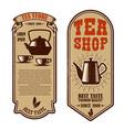 vintage tea shop flyer templates design elements vector image vector image