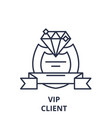 vip client line icon concept vip client vector image vector image
